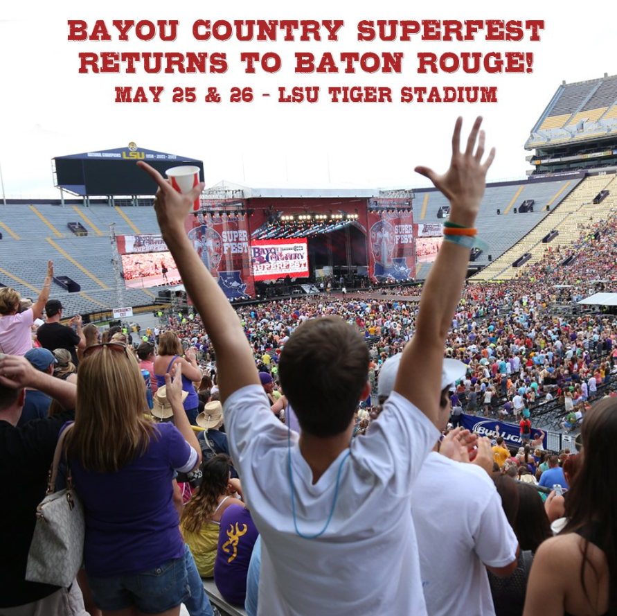 2019 Bayou Country Superfest Back in Baton Rouge